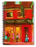 Moishes Steakhouse On The Main Spiral Notebook