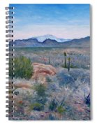 Mojave Desert With Mt San Jacinto California Usa 2001   Spiral Notebook