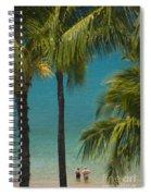 Mokapu Beach Senior Couple Spiral Notebook