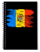 Moldova Gift Country Flag Patriotic Travel Shirt Europe Light Spiral Notebook