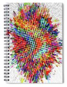 Molecular Floral Abstract Spiral Notebook