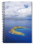 Molokini Aerial Spiral Notebook