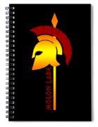 Molon Labe Spartan Helmet Warrior Spear Spiral Notebook