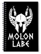 Molon Labe Spartan Warrior Helmet Rifles Spiral Notebook