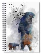 Mom And Baby Bear Spiral Notebook