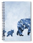 Mom And Baby Bears-blue Spiral Notebook