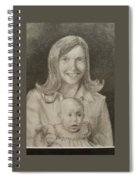 Mom And Sister Portrait Spiral Notebook