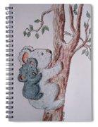 Momma And Baby Koala Spiral Notebook