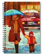 Moms Blue Umbrella Spiral Notebook