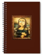 Mona In A Guilded Frame Spiral Notebook