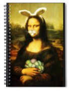 Mona Lisa Bunny Spiral Notebook