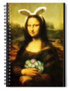 Mona Lisa Easter Bunny Spiral Notebook
