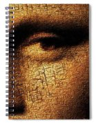 Mona Lisa Eyes 3 Spiral Notebook