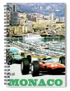 Monaco Grand Prix Racing Poster - Original Art Work Spiral Notebook