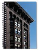 Monadnock Building Cornice Chicago B W Spiral Notebook