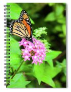 Monarch Butterfly And Honey Bee Spiral Notebook