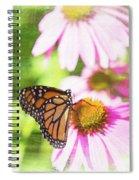 Monarch Butterfly Art Spiral Notebook