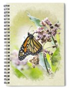 Monarch Butterfly Blank Note Card Spiral Notebook