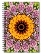 Monarch Butterfly On Milkweed Kaleidoscope Spiral Notebook