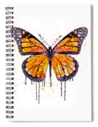 Monarch Butterfly Watercolor Spiral Notebook