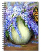 Monarch Of The Lilacs Spiral Notebook