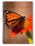 Monarch On Tithonia Mother's Day Gifts Spiral Notebook
