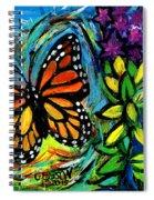 Monarch With Milkweed Spiral Notebook