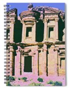 Monastery At Petra Spiral Notebook