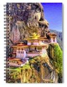 Monastery In Bhutan Spiral Notebook