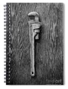 Moncky Wrench Bw Spiral Notebook