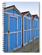 Mondello Beach Cabanas Spiral Notebook