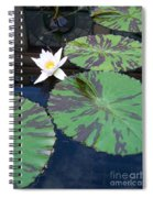 Monet Lilies White  Spiral Notebook