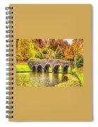 Monetcalia Catus 1 No. 9 - Monet Decides To Paint The Arched Bridge At Stourhead. L A S Spiral Notebook