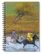 Mongolian Rider Spiral Notebook