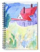 Monhegan Light And Hill Spiral Notebook