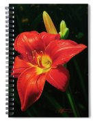 Monikas Red Lily Spiral Notebook