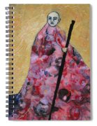 Monk With Walking Stick Spiral Notebook