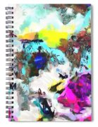 Monkey Painted Italy Pastels Spiral Notebook