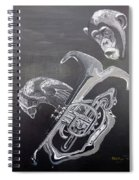 Monkey Playing Tuba Spiral Notebook
