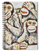Monkey See Monkey Do Fragmented Spiral Notebook