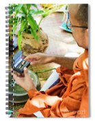 Monks Blessing Buddhist Wedding Ring Ceremony In Cambodia Asia Spiral Notebook