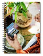Monks Blessing Buddhist Wedding Ring Ceremony In Cambodia Spiral Notebook