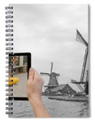 Monochromatic Concept Travel To Netherlands Spiral Notebook