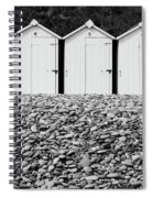Monochrome Beach Huts Spiral Notebook