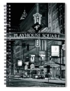 Monochrome Grayscale Palyhouse Square Spiral Notebook