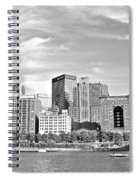 Monochrome Pittsburgh Panorama Spiral Notebook