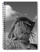 Monochrome Scarecrow Spiral Notebook