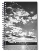 Monochrome Vintage Sunset  Spiral Notebook