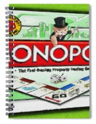 Monopoly Board Game Painting Spiral Notebook