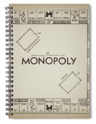 Monopoly Board Patent Vintage Spiral Notebook